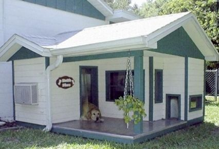 casa para perros grande y preciosa